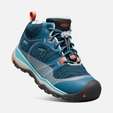 Подростковые ботинки KEEN Terradora Mid WP Y   Aqua Sea/Coral   Вид 1