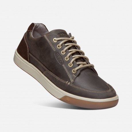 Ботинки KEEN Glenhaven Sneaker M | Mulch/Rooibos Tea | Вид 1