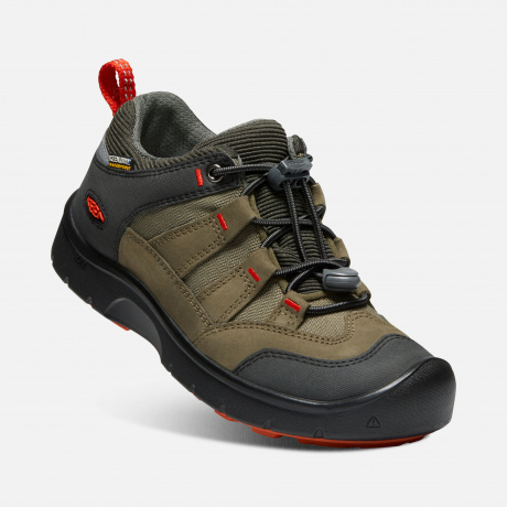 Кроссовки детские KEEN Hikeport WP Y | Martini Olive/Pureed Pumpkin | Вид 1