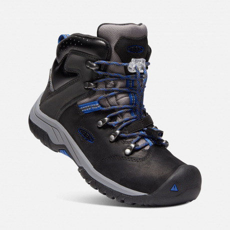 Ботинки подростковые KEEN Torino II Mid WP Y | Black/Baleine Blue | Вид 1