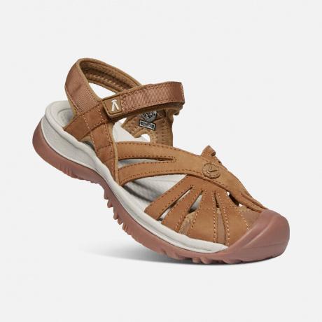 Сандалии женские KEEN Rose Sandal Leather W | Tan | Вид 1