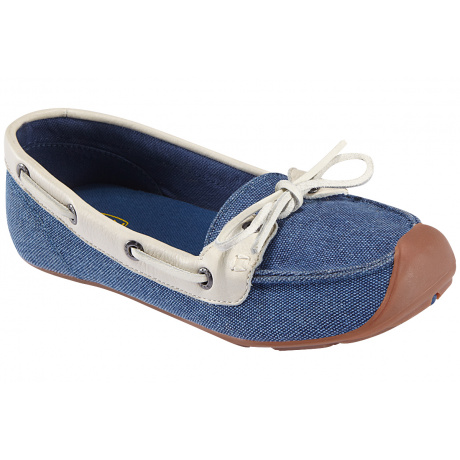 Мокасины женские KEEN Catalina Canvas Boat Shoe | Ensign Blue/Whisper White | Вид 1
