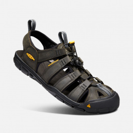 Сандалии KEEN Clearwater CNX Leather M | Magnet/Black | Вид 1