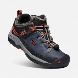 Кроссовки детские KEEN Targhee Low WP Y | Blue Nights/Rooibos Tea | Вид 1