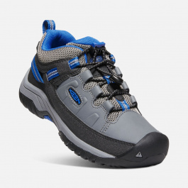 Кроссовки детские KEEN Targhee Low WP Y | Steel Grey/Baleine Blue | Вид 1