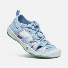 Сандалии подростковые KEEN Moxie Sandal Y | Powder Blue/Vapor | Вид 1