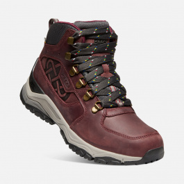 Ботинки женские KEEN INNATE LEATHER MID WP LTD W | Burgundy/Shark | Вид 1