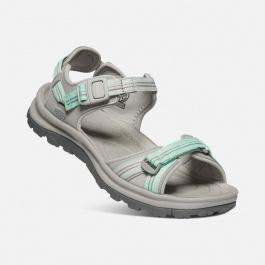 Сандалии женские KEEN Terradora II Open Toe Sandal W | Light Gray/Ocean Wave | Вид 1