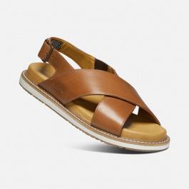 Сандалии женские KEEN Lana Cross Strap Sandal W | Tortoise Shell/Silver Birch | Вид 1