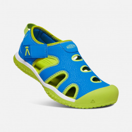 Сандалии детские KEEN Stingray Y | Brilliant Blue/Chartreuse | Вид 1