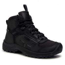 Ботинки мужские KEEN BASIN RIDGE MID WP M | Black/Raven | Вид 1