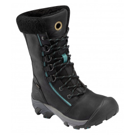 Сапоги женские KEEN Hoodoo High Lace | Black/Deep Sea | Вид 1