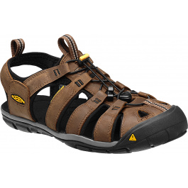 Сандалии KEEN Clearwater CNX Leather M | Dark Earth/Black | Вид 1