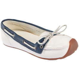 Мокасины женские KEEN Catalina Canvas Boat Shoe | Whisper White/Ensign Blue | Вид 1