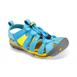 Сандалии женские KEEN Clearwater CNX | Norse Blue/Super Lemon | Вид 1